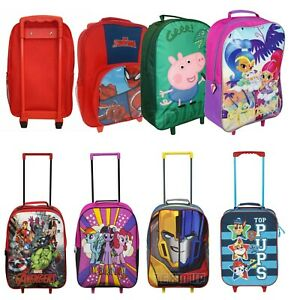 8dc0dec5f8ba Details about Children's Kids Boys Girls Wheeled Cabin Hand Luggage Small  Trolley Travel Bag