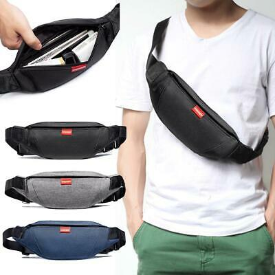 Men Women Waist Bag Outdoor Sports Multi-Function Waterproof Pockets Chest Bag