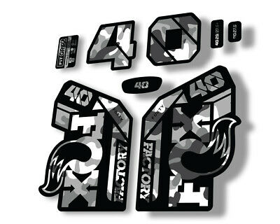 FOX 38 2021 Factory Forks Suspension Decals Sticker Set Adhesive White Camo