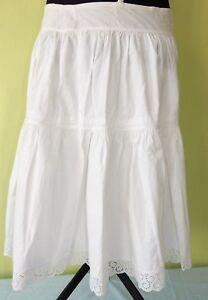 Blanc Jupon Jupon Coton Taille 34/36 Original Années 50er Rockabilly-afficher Le Titre D'origine