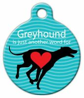 Greyhound Love - Custom Personalized Pet Id Tag For Dog And Cat Collars