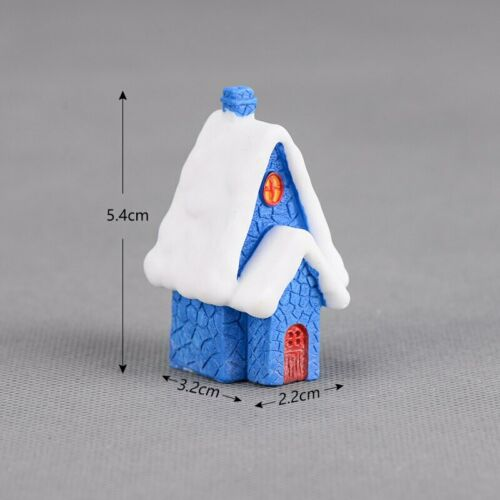 Kawaii Christmas Snow Figurines Fairy Garden Resin Craft Micro Landscape Decor