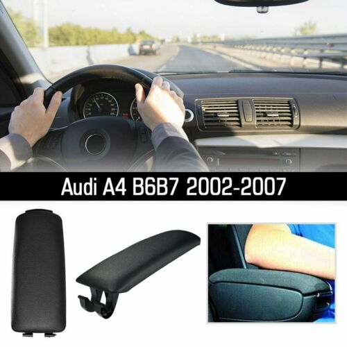 Rest Cover Center Console Arm Armrest Lid Cover For AUDI A4 B6 B7 2002-2007 UK