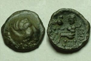 Rare Ancient Greek Celtic tribe barbarous drachm coin Alexander III Zeus Thrace