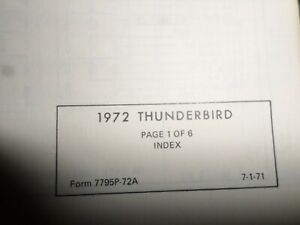 Vintage 1972 Ford Thunderbird Wiring And Vacuum Diagrams ...