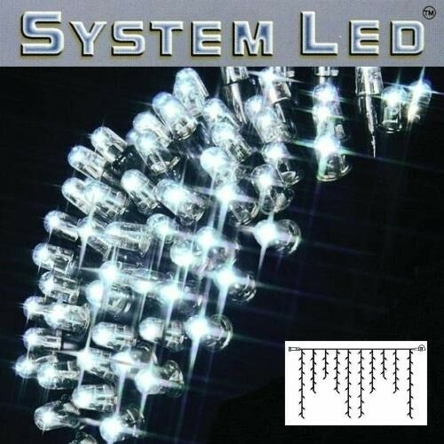 Système LED Eisregen-Guirlande EXTRA 2x1m 100er COOL LIGHT Noir 465-38
