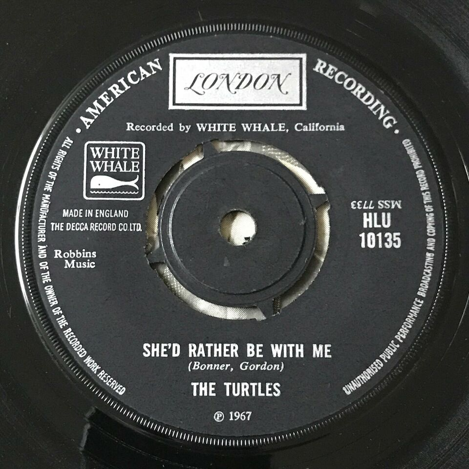 Single, The Turtles, She'd Rather Be With Me/The Walking
