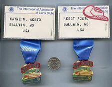 Vtg International Convention Lions Club STL Ribbon Pin Brooch 1990  St Louis Lo
