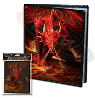 Max Protection Game Card 4-pocket Portfolio Wrath Of The Dragon Album With Pages