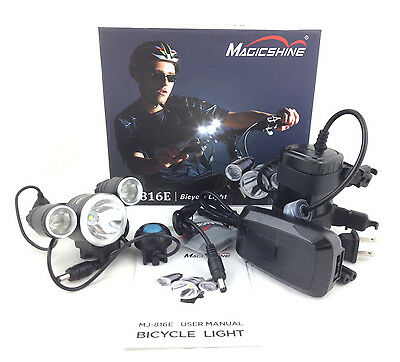 MagicShine MJ816E 1800 lumen LED Bike Bicycle Light Set MJ6038 Battery