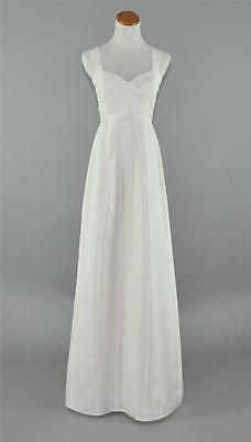 NEW J. CREW $750 LARISSA SILK TAFFETA WEDDING GOWN 2 IVORY LONG  DRESS