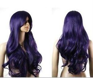 Going-cheap-Card-Captor-Sakura-Wig-Purple-Black-Curls-H71