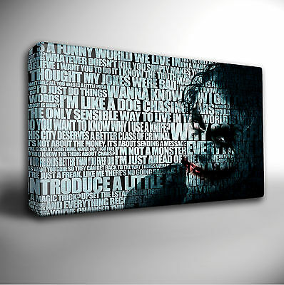 The Joker Quote - Batman 30 x 20 inch Canvas Wall Art