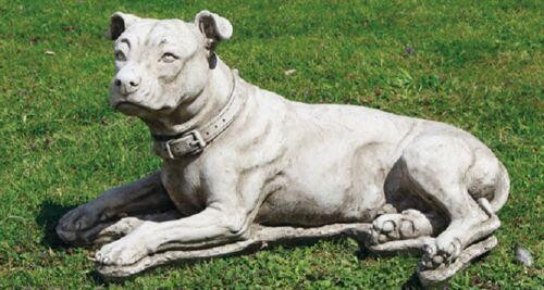 Large Pit Bull Garden Dog Stone Garden Dog
