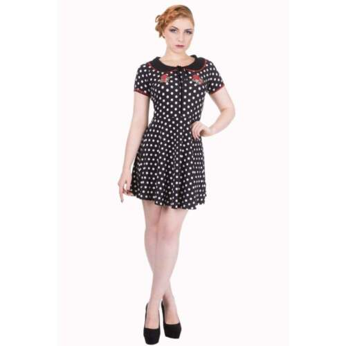 Strawberry Mini New Dress 8 Dot Revelry Black White 12 Tags 10 14 Polka Banned Yg5Sqw