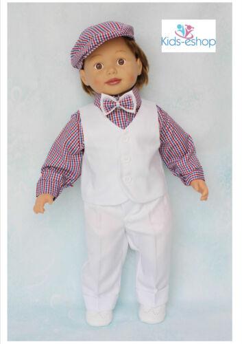 Baby Boy Christening Smart Suit Hat Outfit Waistcoat Long Sleeve Bodyshirt White