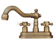 "Black Oil Brass 4/"" Centerset Bathroom Two Holes Basin Faucet Sink Tap shg074"