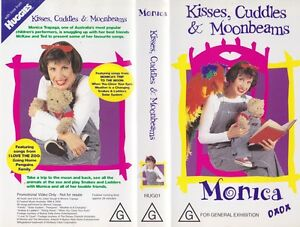 MONICA-KISSES-CUDDLES-AND-MOONBEAMS-VHS-VIDEO-PAL-A-RARE-FIND
