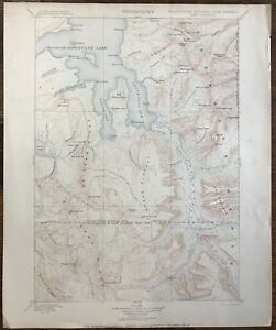 Details about Antique Vtg Topographic Map Yellowstone US Geological Survey  1906