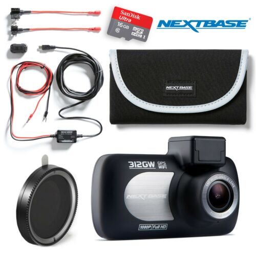 "Nextbase 312GW Dash Cam 2.7/"" LED Car Recorder Night Vision BUNDLES AVAILABLE"