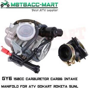 Carburetor 26mm GY6 150cc ATV Scooter Moped Roketa Gocart SUNL 45mm Air Filter