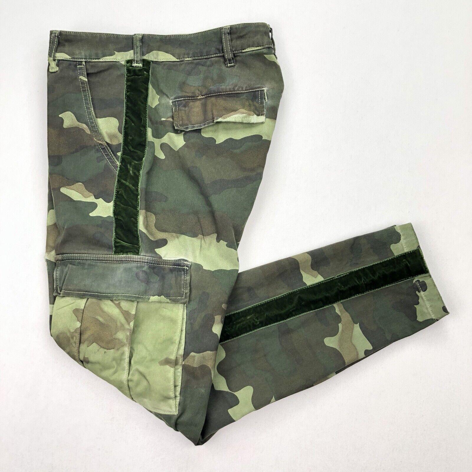 Don't Cry Milan damen's Camouflage 1618 Cargo Skinny Pants Velvet • Größe 26