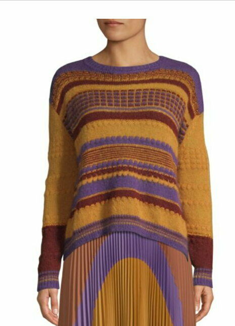 Beatrice B Made in   Mohair Blend knit women's Antarsia sweater Size 6 soft