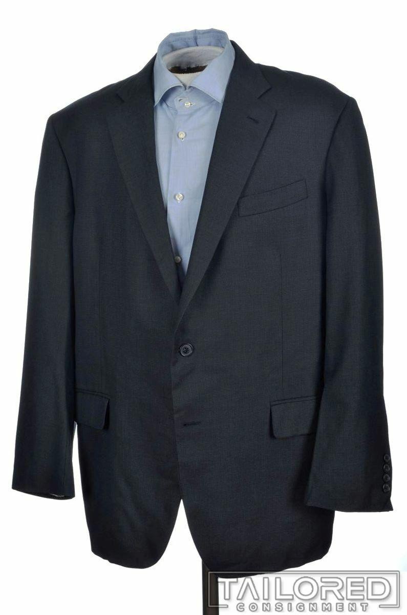 BROOKS BredHERS Madison bluee Woven 100% Wool Blazer Sport Coat - 46 R