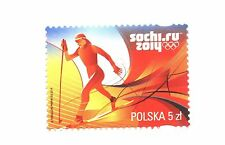 SOCHI 2014  POLISH Olympic stamp MNH skiing cross country Soczi POLAND