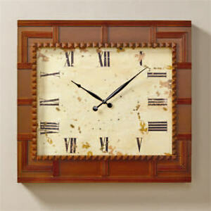 Image Is Loading New Haven Oversized Wood Wall Clock Light Cherry
