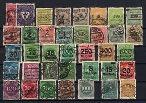 P135661-GERMANY-YEARS-1921-1923-USED-SEMI-MODERN-LOT-CV-165