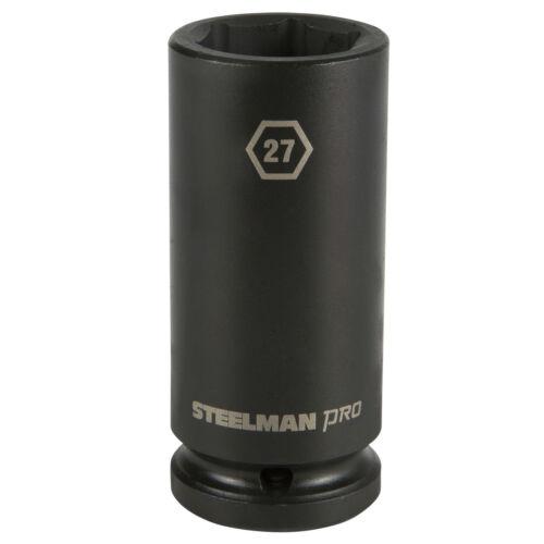 STEELMAN PRO 79259 3//4-Inch Drive x 27mm 6-Point Deep Impact Socket