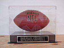 Football Display Case With An Ohio State Buckeyes Nameplate For Your Signed Ball