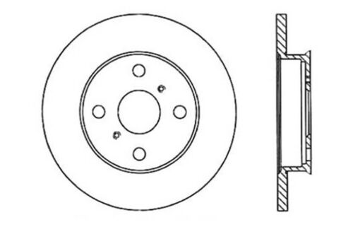 Disc Brake Rotor-Beck//Arnley 083-1651 Rear Fits 79-81 Toyota Celica Supra