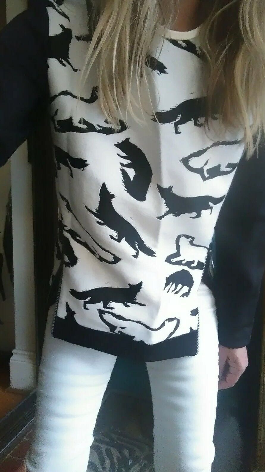 Manning Cartell  Abstract Fox  Top Sweater sz 8