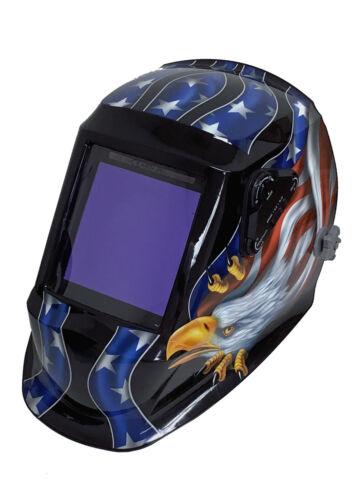 "4-Sensor Auto Darkening Welding Helmet #5 #13 Shade 3.94/""X3.86/"" View Area 990USA"