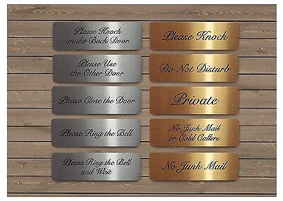 Élégant signes vitaux or argent ou métal blanc porte plaques junk mail Knock ring