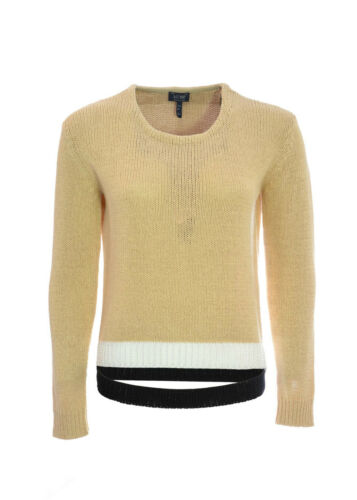 Lavorazione Armani Profili Contrasto A E Intrecciata Donna Con Jeans Pullover Tqxwq6RgI