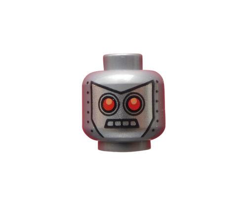 flat silver Lego Movie silberner Kopf Roboter Robo Swat Radio DJ 3626cpb1083