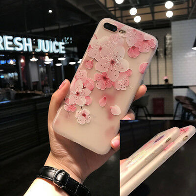 Fashion Flower Case for IPhone 7 7Plus 6 6S Plus Case Cover Silicone TPU Women