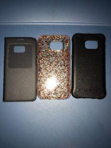 Lot-Of-3pc-Samsung-Galaxy-S7-Ballistic-Original-Flip-Case-Mate-Gold-Cases