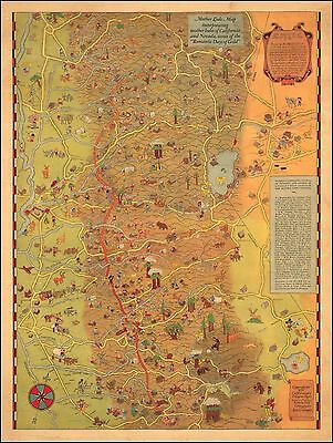 1933 PICTORIAL map Chicago Worlds Fair Exposition Century Progress POSTER 8099