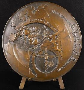 Medaille-494g-95-mm-Europe-Europ-034-vers-un-humanisme-europeen-034-sc-Anastase-medal