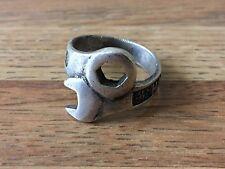 Vintage Handmade .925 Sterling Silver Harley Davidson Men's Ring Size 9.5