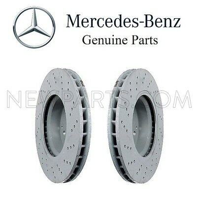 For Mercedes W230 Set of 2 Front Disc Brake Rotor Cross-Drilled OE Supplier