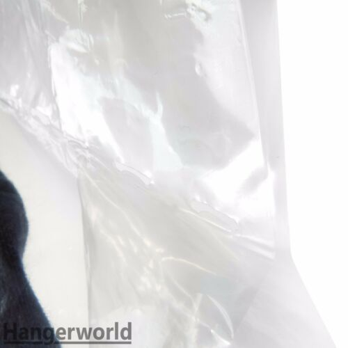 """Hangerworld™ 15 Thick 38/"""" Polythene Garment Covers Suit Clothes Protector Bags"""