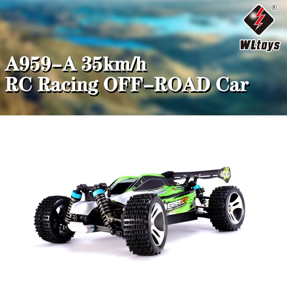 Wlgiocattoli A959-A 2.4G 1 18 4x4 35km h racing ad  alta velocità fuori strada RC Auto verde  varie dimensioni