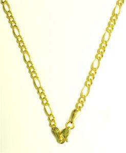 Luxus-Figaro-Kette-Halskette-585-Gold-14-Kt-Gelbgold-Neu-65-cm-lang