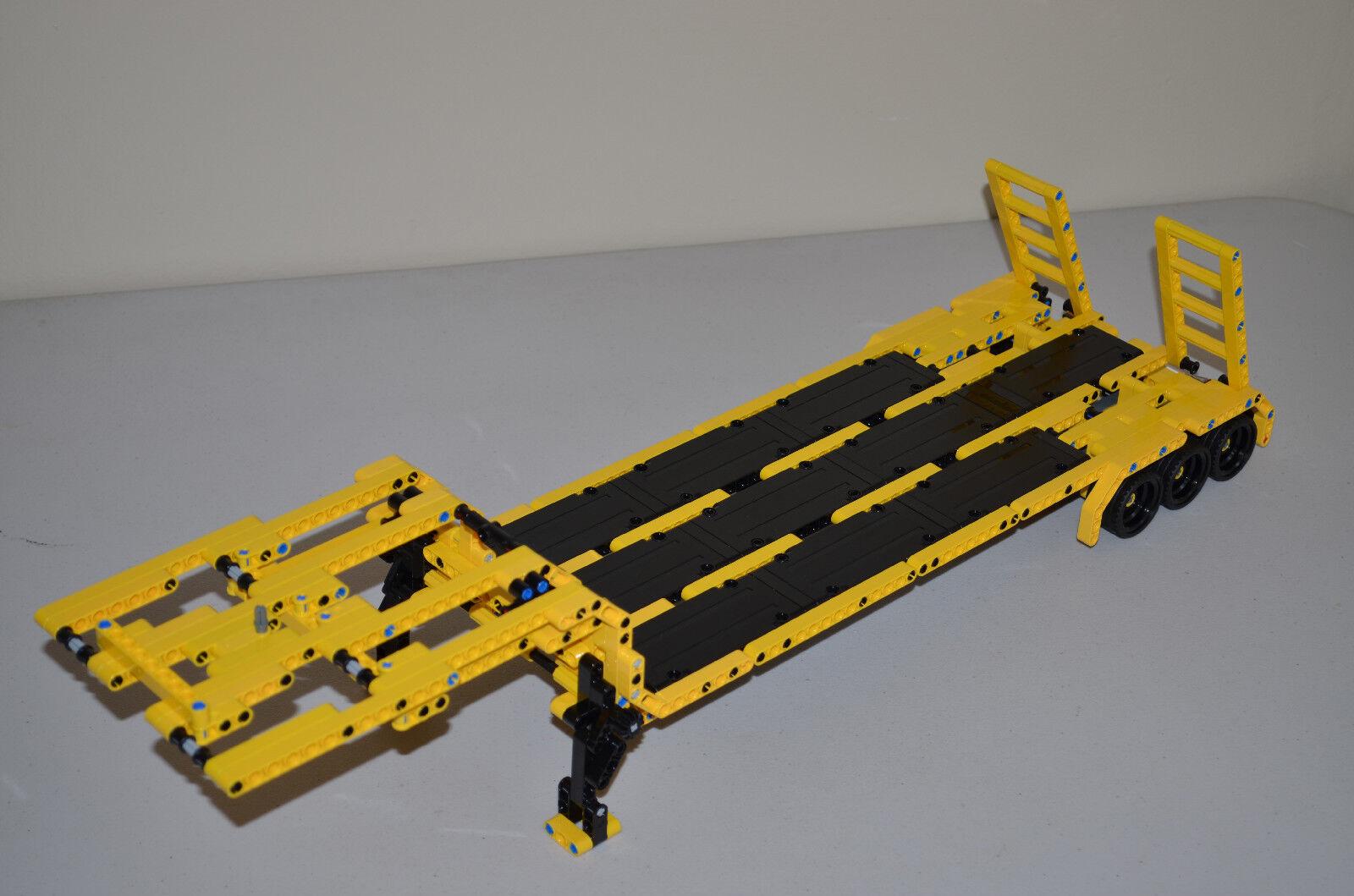 Nuevo LEGO TECHNIC Amarillo y Negro Personalizado Caja Remolque 25  largo