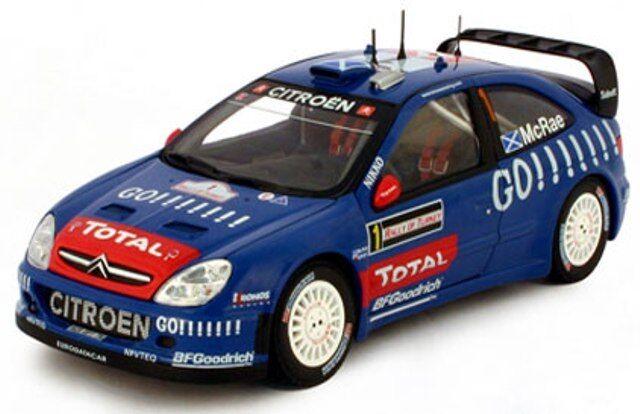 SUNSTAR 4424 CITROEN XSARA WRC métalliques voiture de rallye colin mcrae Turquie 2006 1 18 ème
